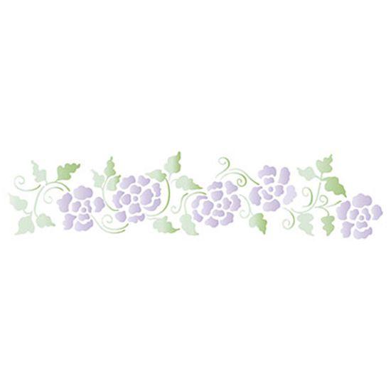 Stencil-Litoarte-42x17cm-Pintura-Simples-STG-026-Flores