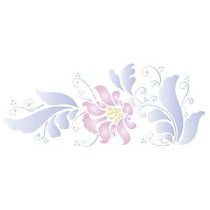 Stencil-Litoarte-42x17cm-Pintura-Simples-STG-031-Flores