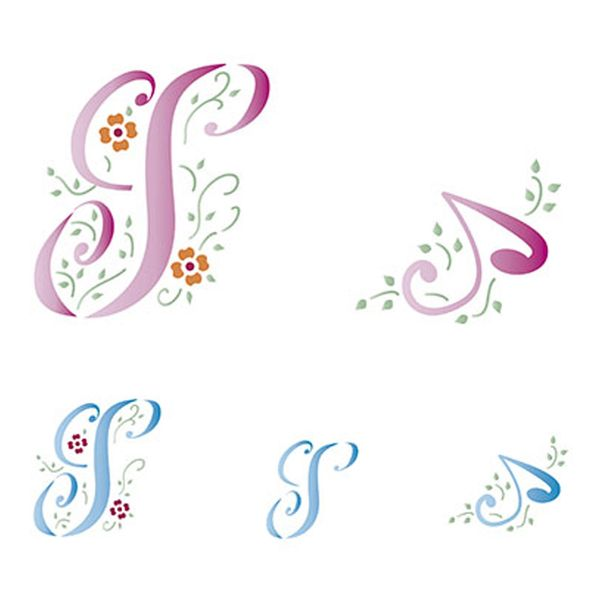 Stencil-Litoarte-211x172cm-Pintura-Simples-STM-085-Letra-S