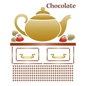 Stencil-Litoarte-211x172cm-Pintura-Simples-STM-330-Bule-Chocolate