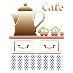 Stencil-Litoarte-211x172cm-Pintura-Simples-STM-331-Bule-Cafe