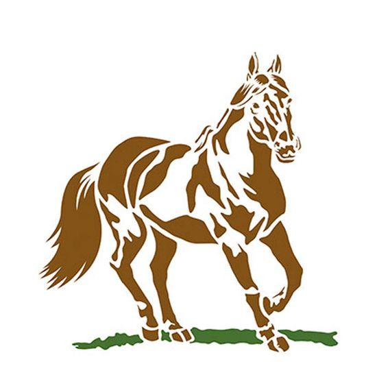 Stencil Litoarte 21 1x17 2cm Pintura Simples Stm 175 Cavalo