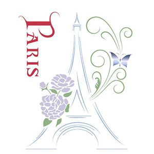 Stencil-Litoarte-211x172cm-Pintura-Simples-STM-233-Torre-Eiffel-Paris