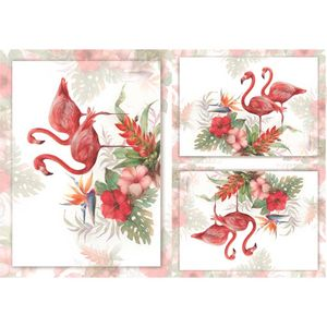 Papel-Decoupage-OPAPEL-30x45cm-OPA-2376-Flamingos