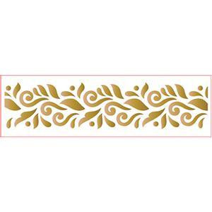 Stencil-Epoca-Litoarte-285x84cm-Pintura-Simples-STE-329-Barrado-Arabescos-I