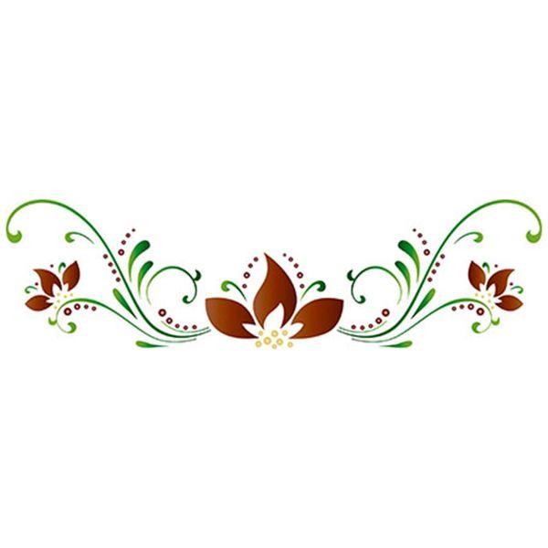 Stencil-Epoca-Litoarte-285x84cm-Pintura-Simples-STE-282-Flores-Arabescos