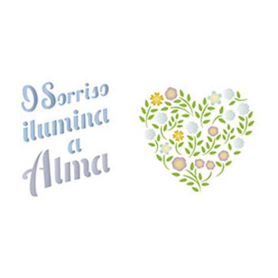 Stencil-Epoca-Litoarte-285x84cm-Pintura-Simples-STE-299-O-Sorriso-Ilumina-a-Alma