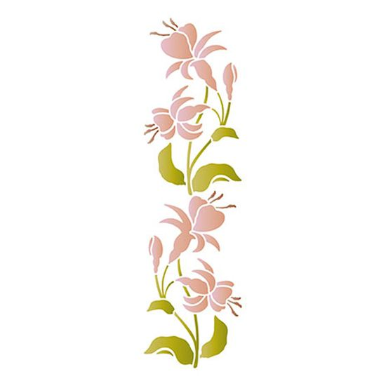 Stencil-Epoca-Litoarte-285x84cm-Pintura-Simples-STE1-001-Flor-Brinco-de-Princesa-By-Lili-Negrao
