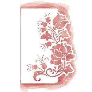 Stencil-Litoarte-28x206cm-Pintura-Simples-STA3-015-Rosas