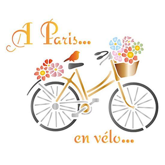 Stencil-Litoarte-21x172cm-Pintura-Simples-STM-579-Bicicleta-Paris
