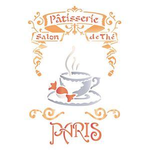 Stencil-Litoarte-21x172cm-Pintura-Simples-STM-586-Selo-Paris-Cafe