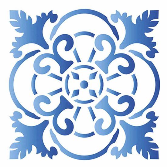 Stencil-Litoarte-10x10cm-Pintura-Simples-ST-X316-Azulejo-Portugues