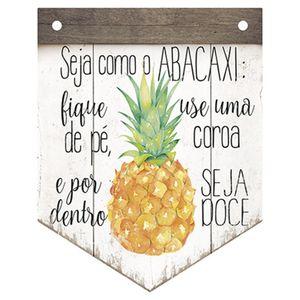 Placa-Decorativa-em-MDF-Litoarte-DHPM5-226-24x19cm-Seja-Como-o-Abacaxi