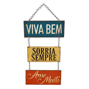Placa-Decorativa-Litoarte-DHPM5-230-40x20cm-Viva-Bem-Sorria-Sempre-Ame-Muito