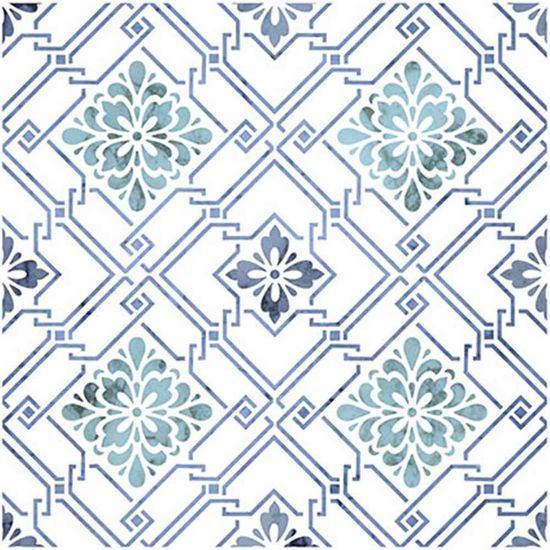 Stencil-Litoarte-20x20cm-Pintura-Simples-STXX-005-Azulejo-com-Flores