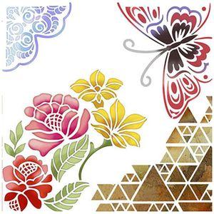 Stencil-Litoarte-20x20cm-Pintura-Simples-STXX-008-Borboleta-e-Flores