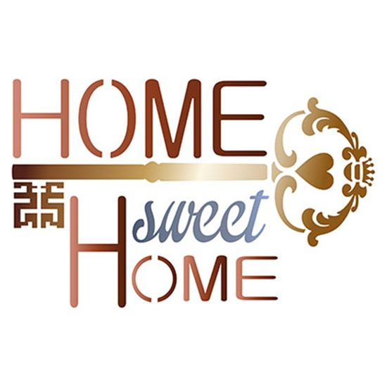 Stencil-Litoarte-20x20cm-Pintura-Simples-STXX-046-Home-Sweet-Home