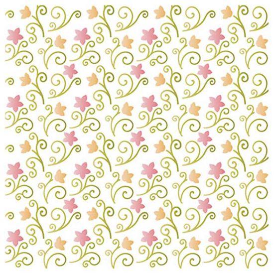 Stencil-Litoarte-20x20cm-Pintura-Simples-STXX-050-Textura-Flores-I