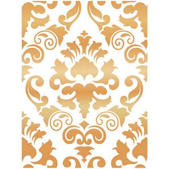 Stencil-Wall--Parede--Litoarte-422x32cm-Pintura-Simples-STW-013-Ornamento-Barroco