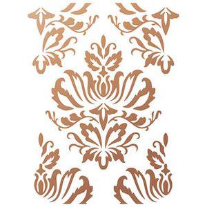 Stencil-Wall--Parede--Litoarte-422x32cm-Pintura-Simples-STW-014-Ornamento-Barroco