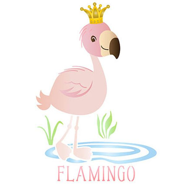 Stencil-Litoarte-211x172cm-Pintura-Sobreposicao-STM-617-Flamingo-Infantil