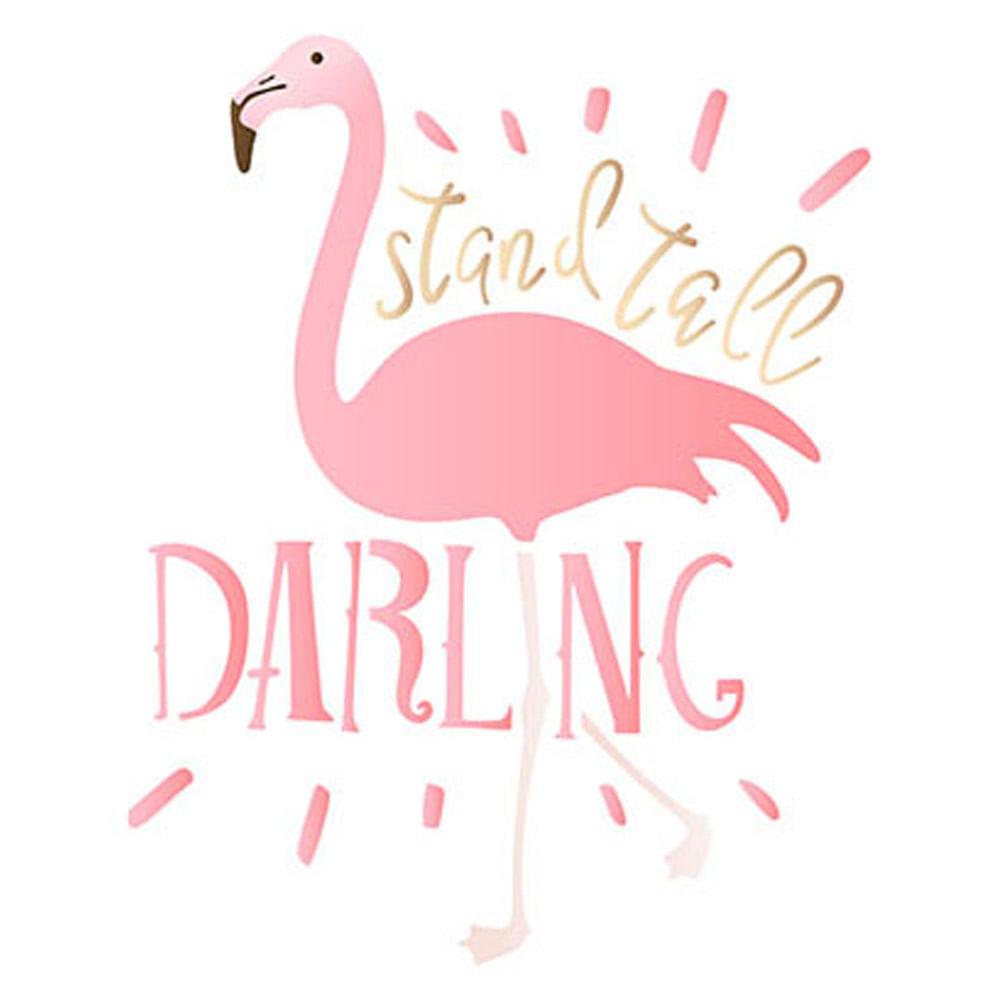 9bed212d55ff6 Stencil Litoarte 21,1x17,2cm Pintura Sobreposição STM-618 Flamingo Darling  - PalacioDaArte