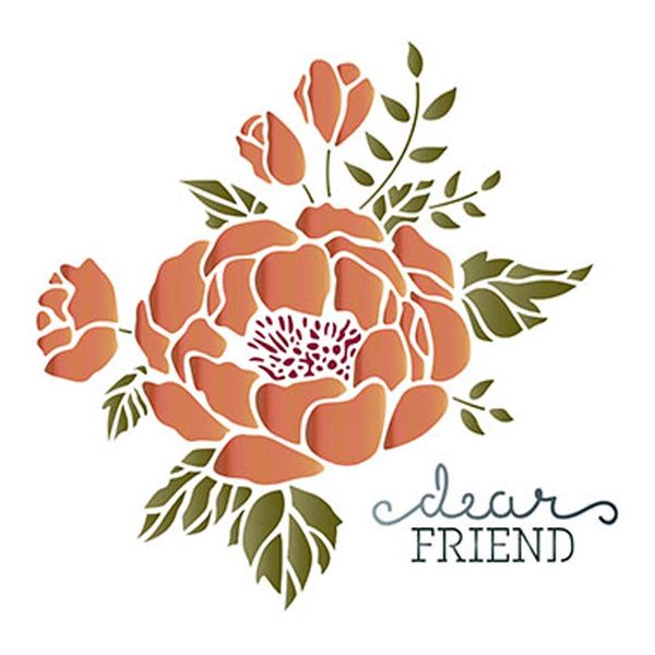 Stencil-Litoarte-211x172cm-Pintura-Simples-STM-401-Flor-Dear-Friend