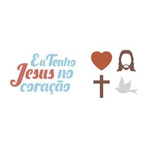 Stencil-Litoarte-17x65cm-Pintura-Simples-STP-120-Eu-Tenho-Jesus-no-Coracao