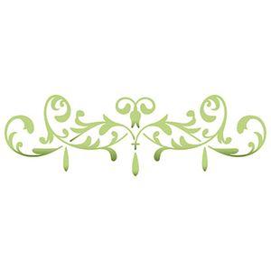Stencil-Litoarte-17x65cm-Pintura-Simples-STP-140-Ornamento-Arabescos