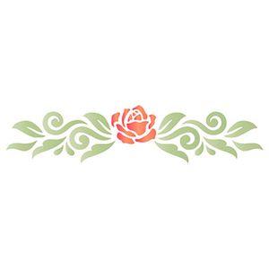 Stencil-Litoarte-17x65cm-Pintura-Simples-STP-145-Rosa-com-Arabesco