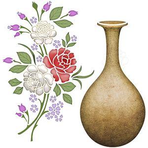 Stencil-Litoarte-25x25cm-Pintura-Simples-STXXV-001-Flores