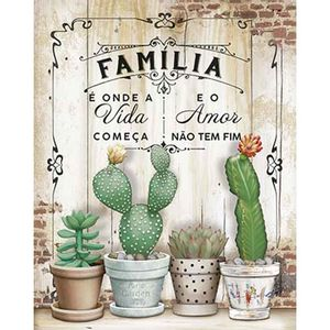 Placa-Decorativa-Litoarte-DHPM-382-24x19cm-Familia-e-Onde-a-Vida-Comeca