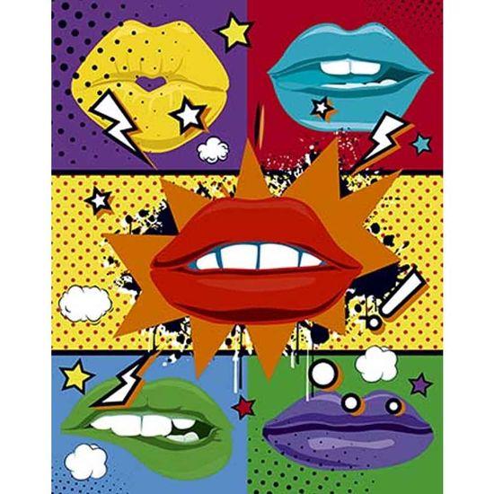 Placa-Decorativa-Litoarte-DHPM-384-24x19cm-Pop-Art-Bocas