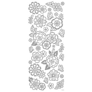 Adesivo-Foil-II-Metalizado-Toke-e-Crie-AD1905-Rosas-Prata