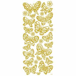 Adesivo-Foil-II-Metalizado-Toke-e-Crie-AD1910-Borboletas-Dourada