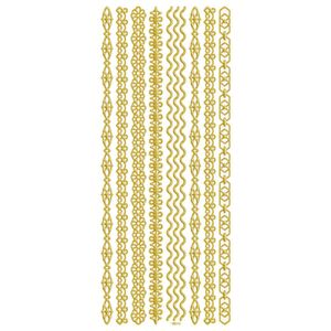 Adesivo-Foil-II-Metalizado-Toke-e-Crie-AD1912-Faixas-Dourada