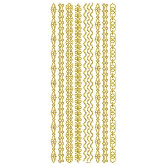 99c16397d Adesivo Foil II Metalizado Toke e Crie AD1912 Faixas Dourada - PalacioDaArte