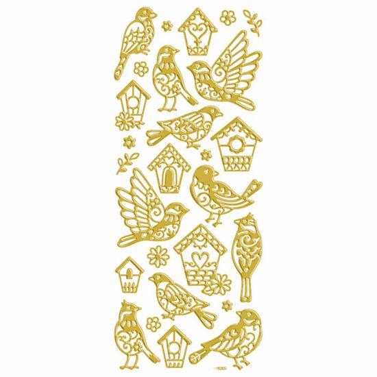 Adesivo-Foil-II-Metalizado-Toke-e-Crie-AD1911-Passarinhos-Dourado