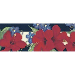 Barra-Adesiva-Litoarte-BA1-IV-078-Flores-de-Hibiscos-by-Lili-Negrao