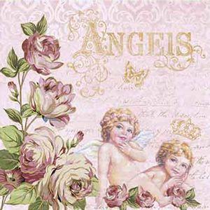 Papel-Decoupage-Adesiva-Litoarte-DAX-116-10x10cm-Rosas-e-Anjos