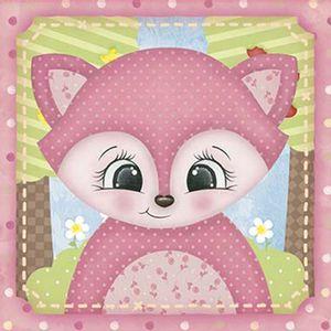 Papel-Decoupage-Adesiva-Litoarte-DAX-147-10x10cm-Raposa-Rosa