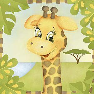 Papel-Decoupage-Adesiva-Litoarte-DAX-151-10x10cm-Safari-Girafa