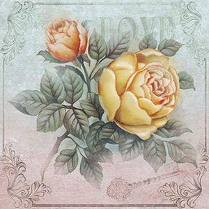 Papel-Decoupage-Adesiva-Litoarte-DAXV-017-15x15cm-Rosas-Vintage