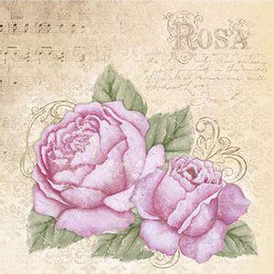 Papel-Decoupage-Adesiva-Litoarte-DAXV-045-15x15cm-Rosas-Vintage