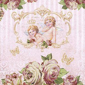 Papel-Decoupage-Adesiva-Litoarte-DAXV-048-15x15cm-Rosas-e-Anjos