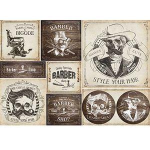 Papel-Decoupage-Litoarte-PD-904-343x49cm-Barbearia-Vintage