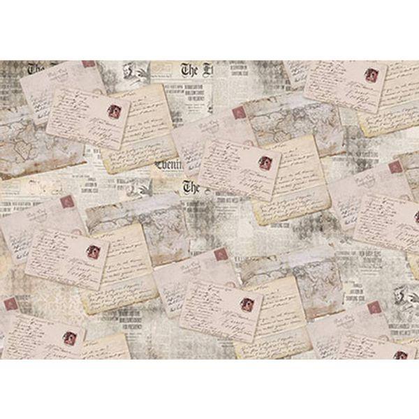 Papel-Decoupage-Litoarte-PD-910-343x49cm-Cartas-Vintage