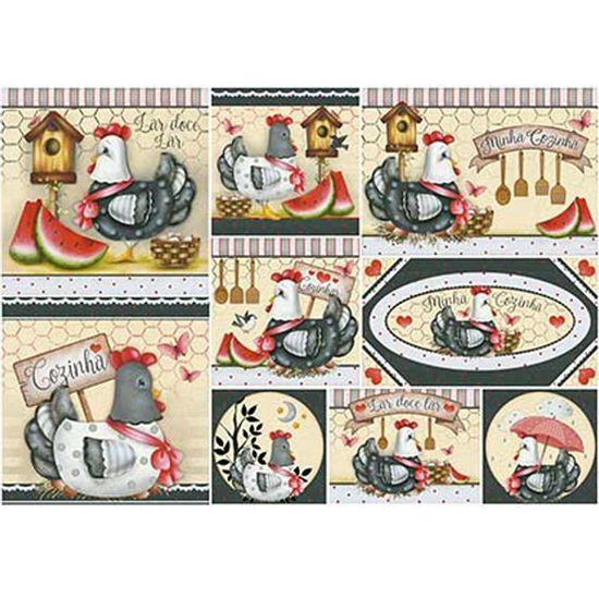 Papel-Decoupage-Litoarte-PD-915-343x49cm-Galinhas-com-Lacos-Vermelhos