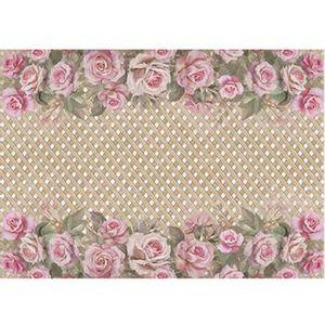 Papel-Decoupage-Litoarte-PD-929-343x49cm-Rosas-com-Fundo-de-Trelica