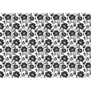Papel-Decoupage-Litoarte-PD-955-343x49cm-Flores-Pretas-com-Fundo-Branco